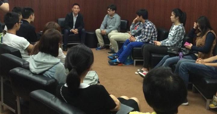 澳門學人理事長與澳門科技大學學生互動交流